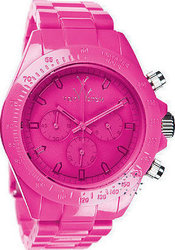 Toy Watch Monochrome Chronograph Pink Plasteramic Bracelet MO10PS