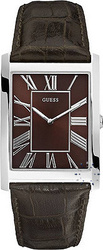 Guess Men Brown Dial and Leather Strap - W65016G2
