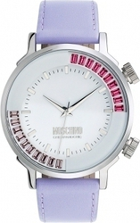 Moschino Chic and Cool White Dial Purple Leather Strap MW0282