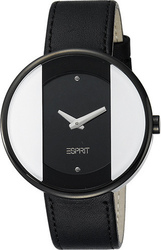 Esprit Eclipse Black Case & Black Leather Strap - ES103772002