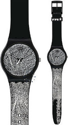 Swatch TTR Special Recognize Me Black Rubber Strap SUOZ136