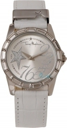 Mugler Ladies Crystal White Leather Strap TM4705902