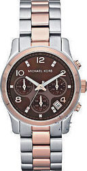 Michael Kors Crystal Two-Tone Stainless Steel Bracelet MK5495