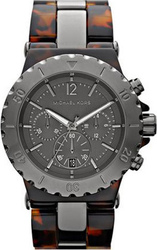 Michael Kors Tortoise and Grey Stainless Steel Bracelet MK5501