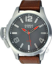 Oozoo STEEL LEFTY XXL Brown Leather Strap OS333