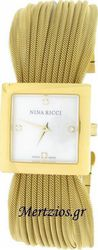 Nina Ricci Swiss Made Diamond Gold Watch N019.42.76.4