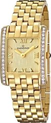 Candino Swiss Made Gold Steel Crystal Watch C4435/2