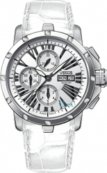 Venus Automatic White Leather Chronograph VE-1301A1-13-L1