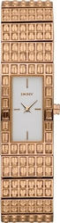 DKNY Crystal Rose Gold Stainless Steel Bracelet NY8440