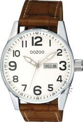 Oozoo Τimepieces Brown Leather Strap C4751