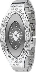 Chronostar Crystal Lady Black Dial Stainless Steel Bracele - R3753400575
