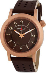 Brosway Rose Gold Case Brown Dial and Leather Strap RC13