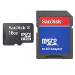 Sandisk microSDHC 16GB Class 4 with Adapter (SDSDQB-016G-B35)