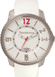 Tendence Slim Pop Date White Rubber Strap TG131003