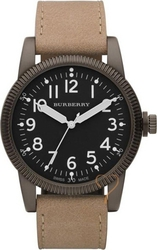 Burberry Black Dial Brown Leather Strap BU7806