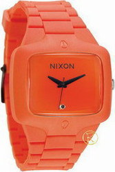 Nixon Men's Rubber Player Orange Plastic Silicon Rubber A139211