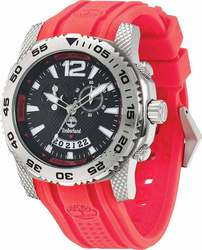 Timberland Chronograph Red Rubber Strap 13319JS-02B