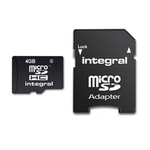 Integral microSDHC 4GB Class 4 with Adapter