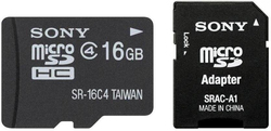 Sony microSDHC 16GB Class 4 with Adapter