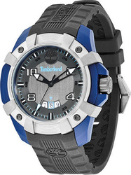Timberland Black Dial and Rubber Strap Blue Case - 13326JPBLU-61