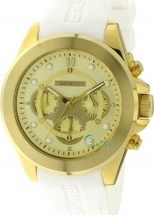 Rebecca Gold White Rubber Strap Chronograph ACROOB96