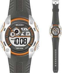 Jaga Sport Digital Grey Rubber Strap M943 Orange