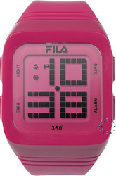 Fila Ladies Digital Pink Rubber Strap - 38-014-106