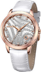Cosmopolitan Crystal White Leather Strap - CM20801