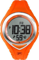 Fila Digital Chronograph Orange Rubber Strap - 38-024-006