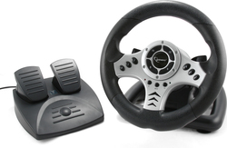 Gembird Wireless 2.4GHz steering wheel with vibration