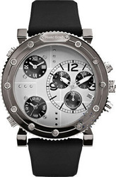 Marc Ecko Men's The Burner Chronograph Black Rubber Strap - EM21587G1