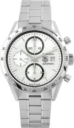 TAG Heuer Men's Carrera Swiss Automatic Silver Dial Watch CV2017.BA0794