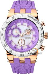 Breeze Desire Chrono Purple Rubber Strap - 110011.4