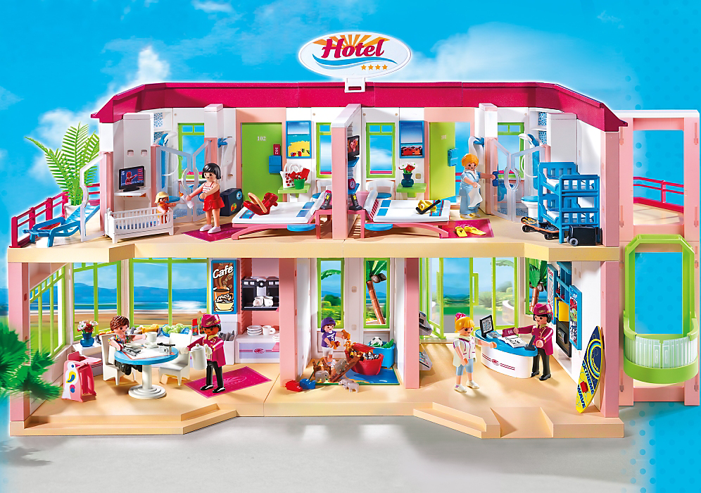 Playmobil Maison Moderne 2014 : Playmobil Μεγάλο επιπλωμένο ξενοδοχείο skroutz gr