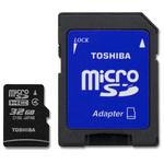 Toshiba microSDHC 32GB Class 4 BL5 with Adapter