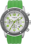 Vogue Vivid Chronograph Green Rubber Strap