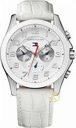 Tommy Hilfiger White Leather Chronograph Ladies Watch