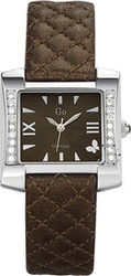 Go Crystal Ladies Brown Leather Strap 697124