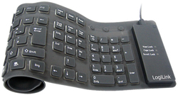 LogiLink Keyboard flexible waterproof