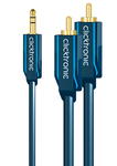 Clicktronic Audio Cable 3.5mm male - 2x RCA male 1m (70465)