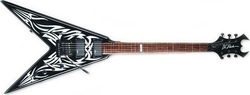 BC Rich King V White Tribal