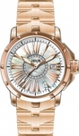 Venus Genesis Diamonds Date Rose Gold Stainless Steel Bracelet