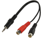 Valueline 3.5mm male - 2x RCA female (CABLE-406)