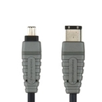 Bandridge Firewire 400 Cable 4-pin male - 6-pin male 2m (BCL6202)