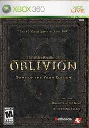 The Elder Scrolls IV Oblivion Game Of The Year XBOX 360