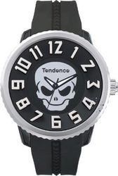 Tendence Skull Revolution Black Rubber Strap TG330004