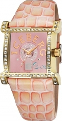 Iceberg Crystals Pink Leather Strap IC705-93