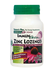 Nature's Plus Herbal Actives ImmunActin Zinc Lozenges 60 παστίλιες