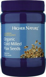 Higher Nature Organic Cold Milled Flax Seeds 250gr
