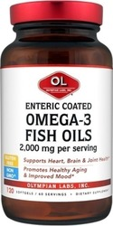 Olympian Labs Enteric Coated Omega-3 Fish Oil 2000mg 120 μαλακές κάψουλες